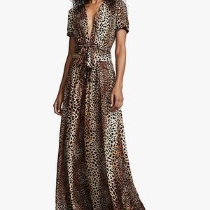 Melissa Odabash Lou leopard maxi dress Medium